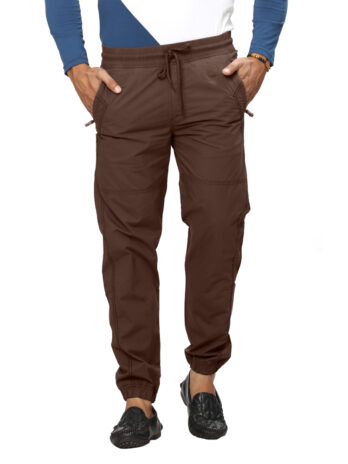 Panelled Joggers with Zip Closure