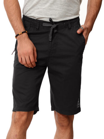 MID-RISE SOLID SHORTS WITH GRAPHIC PRINT