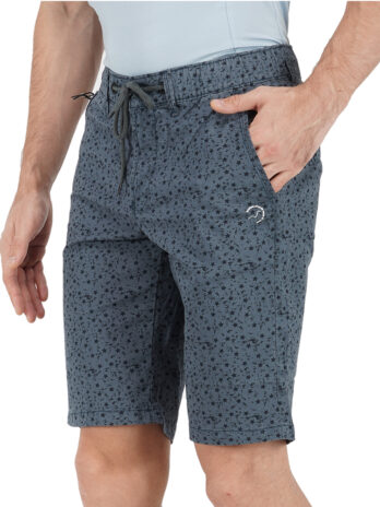 SMART PRINTED SHORTS WITH BRAND EMBROIDERY