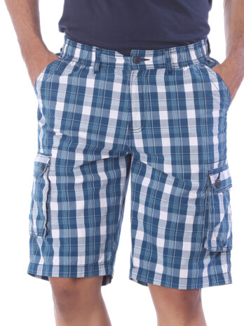 CHECKED CARGO SHORTS