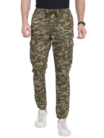 Men's Joggers Pant With Como Printed.